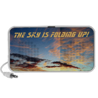 THE SKY IS FOLDING UP! TRAVEL SPEAKERS