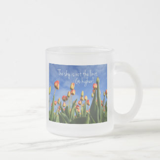 The Sky is Not the Limit Go Higher Frosted Glass Coffee Mug