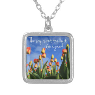 The Sky is Not the Limit Go Higher Personalized Necklace