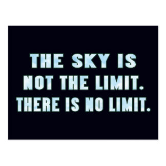 The Sky Is Not the Limit. Postcard