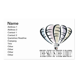 The Sky Is The Limit 2 Business Card