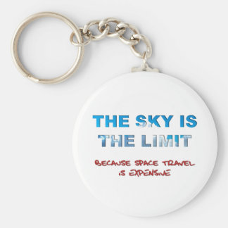 The Sky Is The Limit Basic Round Button Keychain
