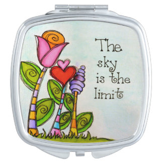 The Sky Is The Limit Compact Mirror