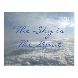 The Sky is The Limit, Motivational Succes Card