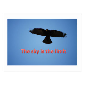 The sky is the limit postcard