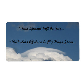 'The Sky Is The Limit'..'To & From' Gift Tag Label