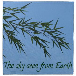 the sky seen from earth servilletas imprimidas