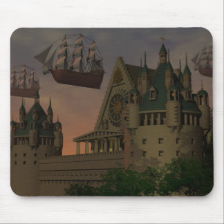 The sky the sailing ship which it flies mouse pad