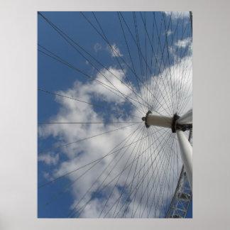 The sky through the wheel print