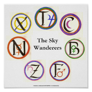The Sky Wanderers Sigils Poster
