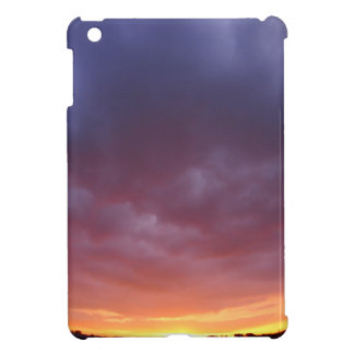 The sky with clouds over the city before sunset iPad mini covers