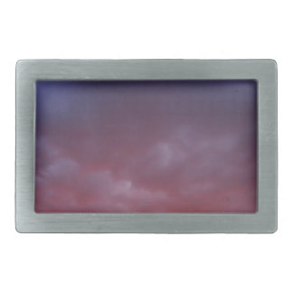 The sky with clouds over the city before sunset rectangular belt buckle