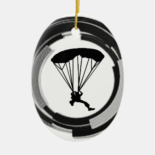 Skydiving Christmas Ornaments