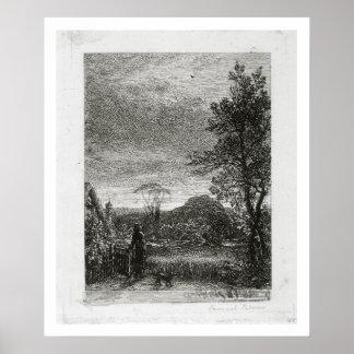 The Skylark (etching) Poster