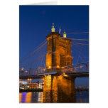 The skyline of Cincinnati, Ohio, USA at dusk Cards