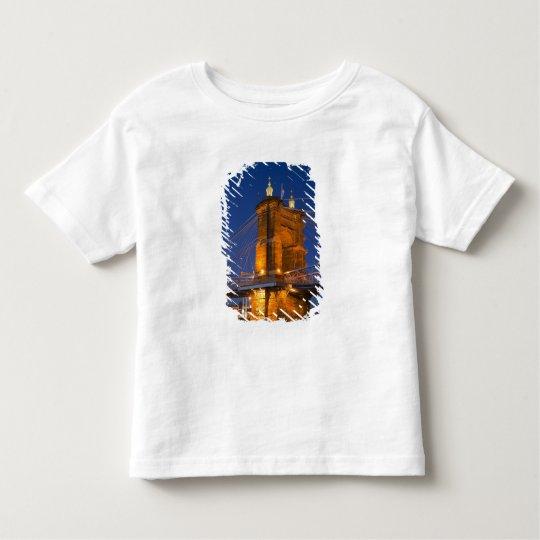 The skyline of Cincinnati, Ohio, USA at dusk Toddler T-shirt