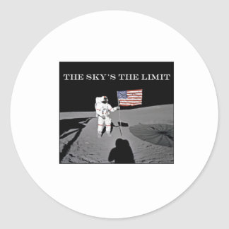 The Sky's the Limit Classic Round Sticker