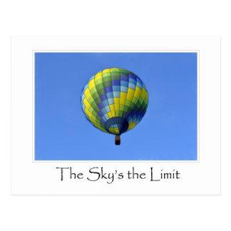The Sky's the Limit Hot Air Balloon Photograph Postcard