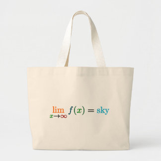 The sky's the limit large tote bag