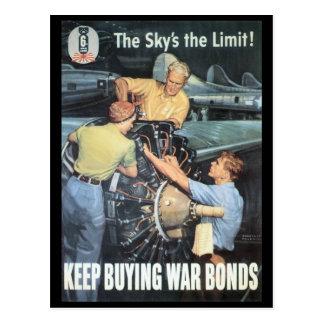 The Sky's The Limit World War II Postcard