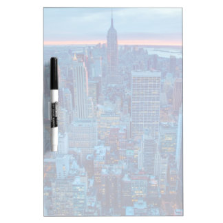 The skyscrapers of Manhattan are lit Dry Erase Board