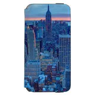 The skyscrapers of Manhattan are lit iPhone 6/6s Wallet Case