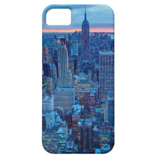 The skyscrapers of Manhattan are lit iPhone SE/5/5s Case