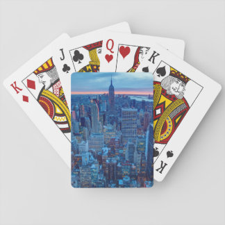 The skyscrapers of Manhattan are lit Playing Cards