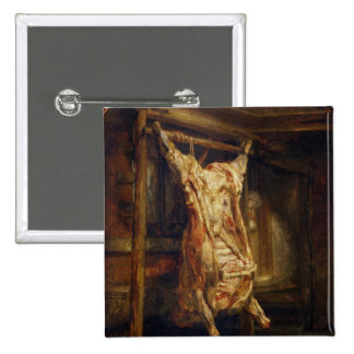 The Slaughtered Ox, 1655 Pinback Buttons