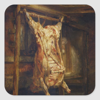 The Slaughtered Ox, 1655 Square Sticker