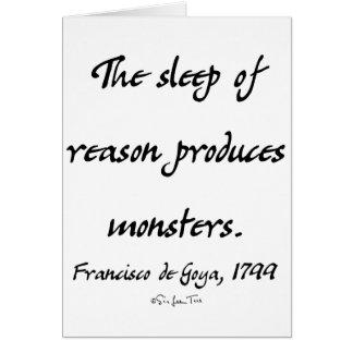 The Sleep of Reason Card