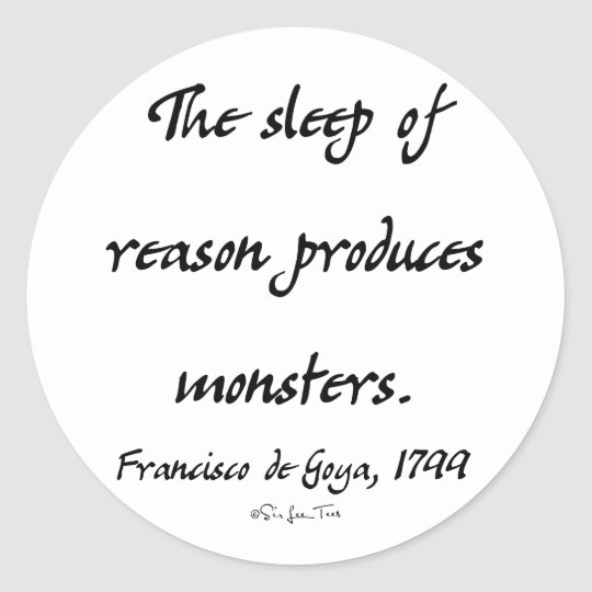 The Sleep of Reason Classic Round Sticker