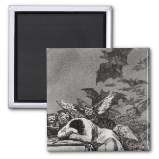 The Sleep of Reason Produces Monsters 2 Inch Square Magnet