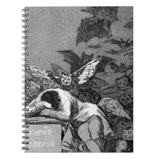 The sleep of reason produces monsters by Francisco Spiral Notebook