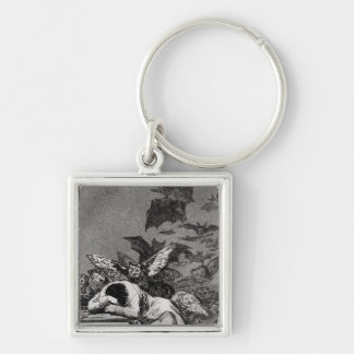 The Sleep of Reason Produces Monsters Silver-Colored Square Keychain