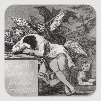 The Sleep of Reason Produces Monsters Square Sticker