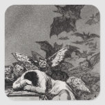 The Sleep of Reason Produces Monsters Square Stickers
