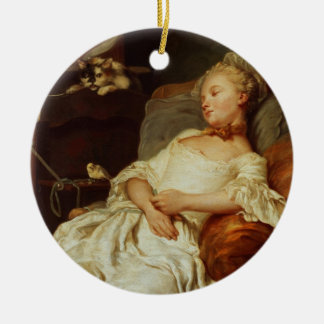 The Sleeper, 1759 (oil on canvas) Ceramic Ornament
