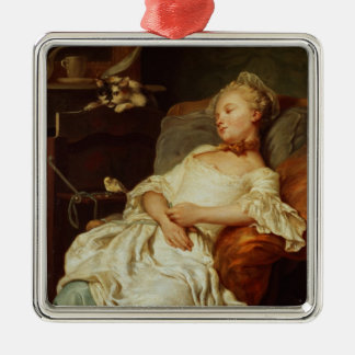 The Sleeper, 1759 (oil on canvas) Metal Ornament