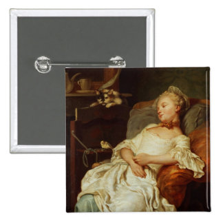 The Sleeper, 1759 (oil on canvas) Pinback Button