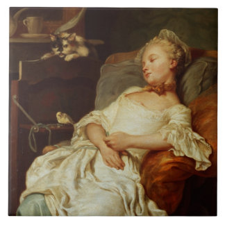 The Sleeper, 1759 (oil on canvas) Tile