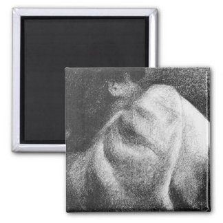 The Sleeper by Georges Seurat 2 Inch Square Magnet