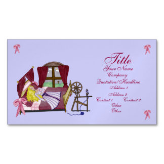 The Sleeping Beauty Business Card Magnet