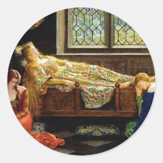 The Sleeping Beauty Classic Round Sticker