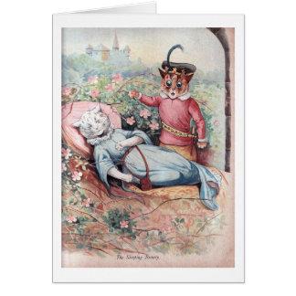 The Sleeping Beauty, Louis Wain Card