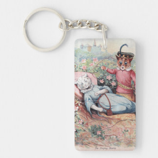 The Sleeping Beauty, Louis Wain Keychain