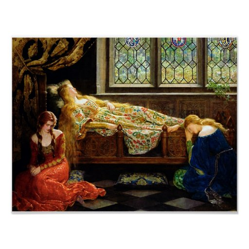 The Sleeping Beauty Oil on canvas painting Posters