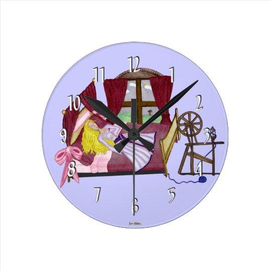 The Sleeping Beauty Round Clock