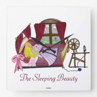 The Sleeping Beauty Square Wall Clock
