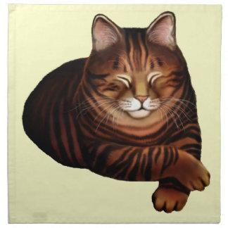 The Sleeping Brown Tabby Cat Napkin